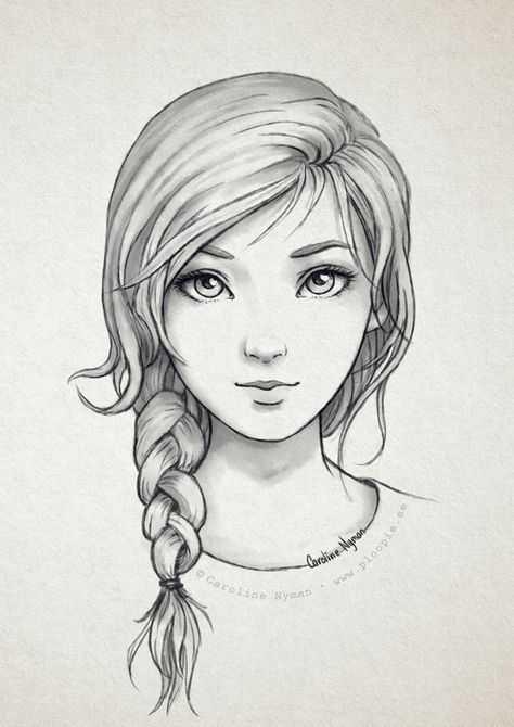 Рисунки карандашом для начинающих для девочек 11 лет004