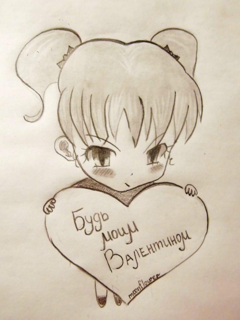 Рисунки карандашом для начинающих для девочек 11 лет005