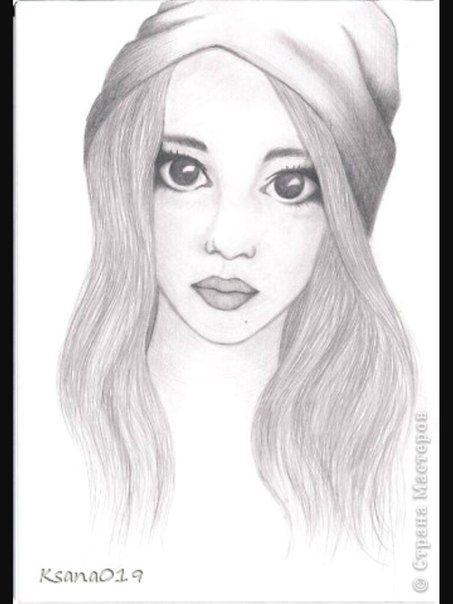 Рисунки карандашом для начинающих для девочек 11 лет007