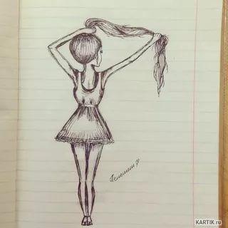 Рисунки карандашом для начинающих для девочек 11 лет014