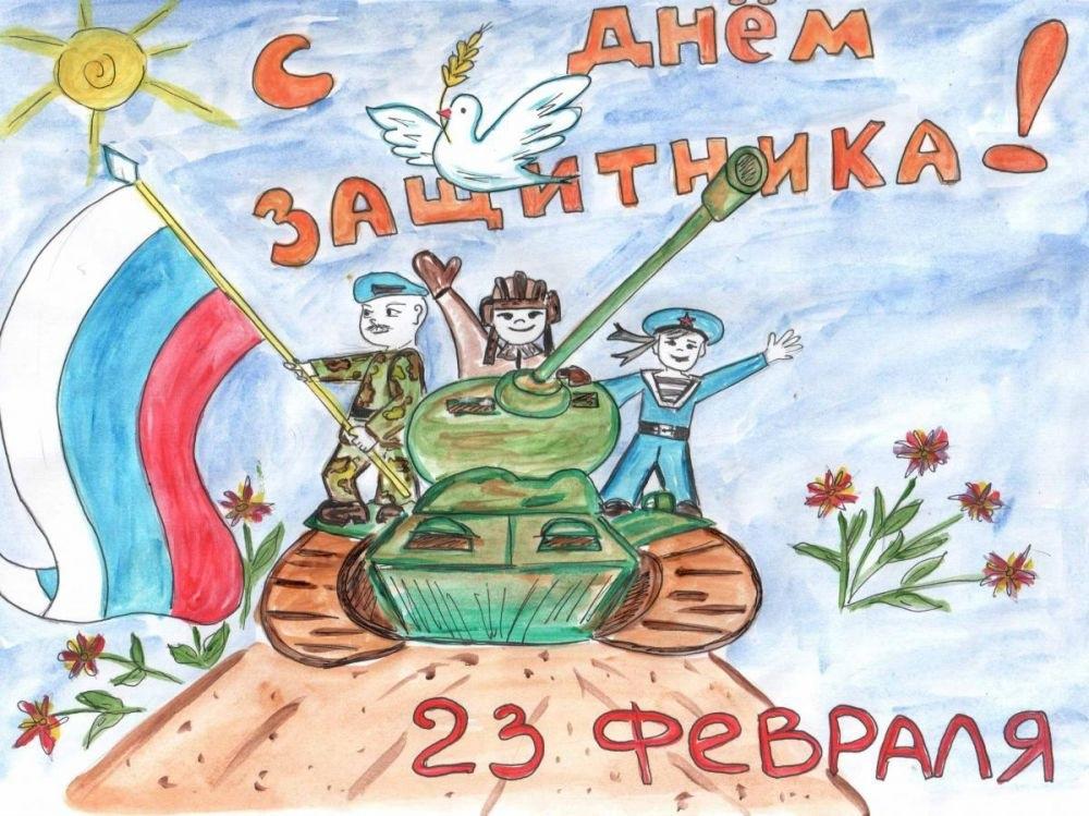Рисунки к 14 октября дню защитника отечества картинки005