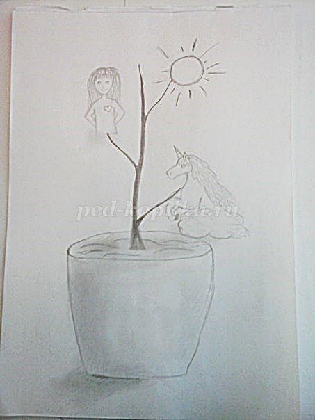 Рисунки на свободную тему 6 класс карандашом - идеи (9)