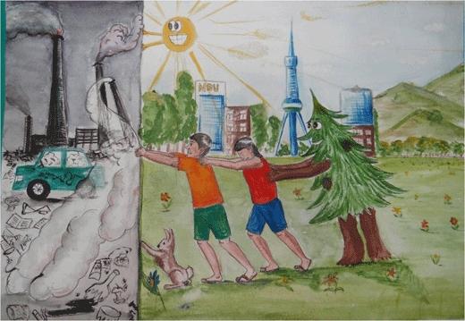 Рисунки на тему берегите воздух для 3 класса021