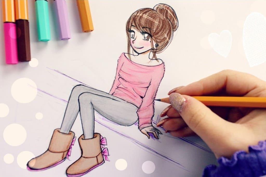 Рисунки подруге просто так, если она любит аниме015