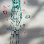 Рисунки подруге просто так, если она любит аниме