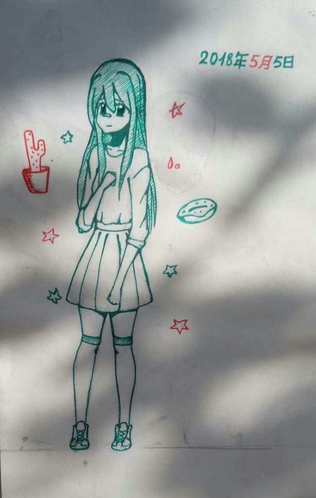 Рисунки подруге просто так, если она любит аниме017