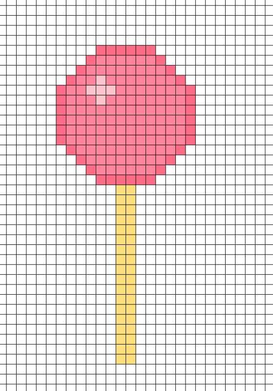 Рисунки по клеточкам в тетради для начинающих для девочек (27)