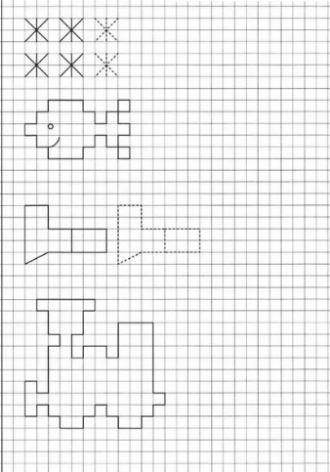 Рисунки по клеточкам в тетради для начинающих для девочек (9)