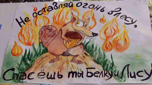 Рисунки по пожарной безопасности для детей своими руками (13)