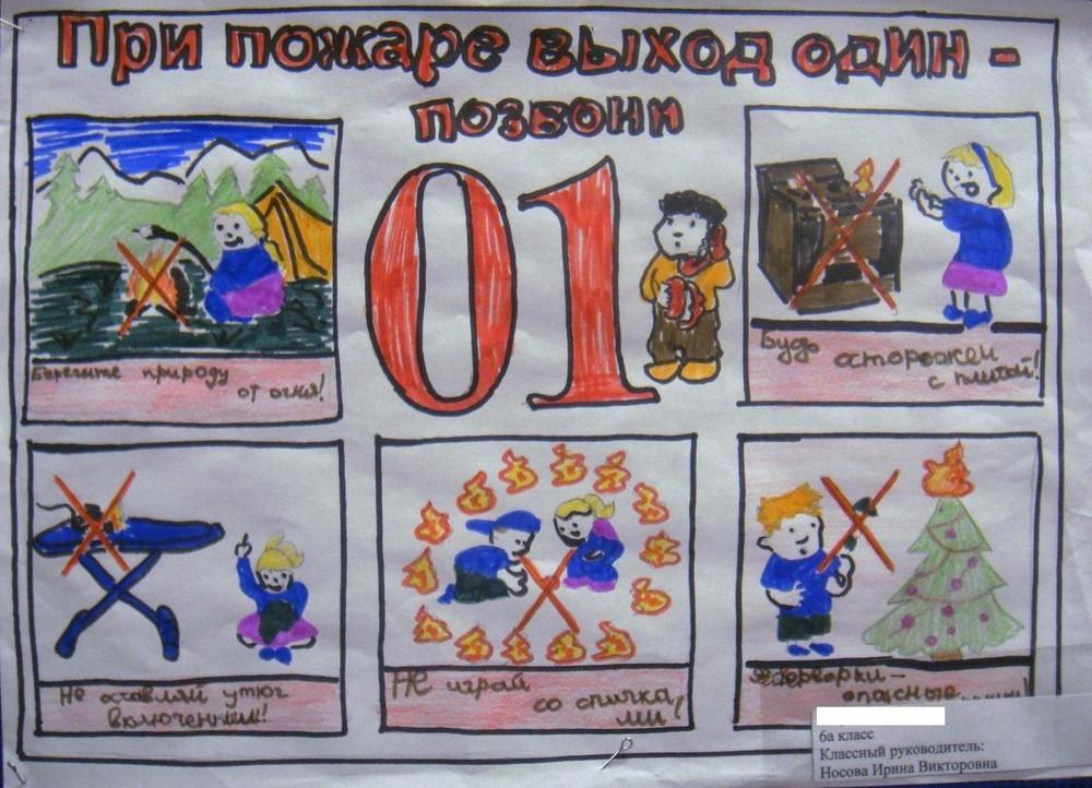 Рисунки по пожарной безопасности для детей своими руками (15)