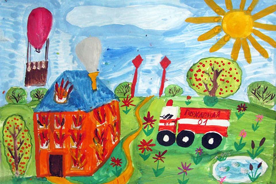 Рисунки по пожарной безопасности для детей своими руками (18)