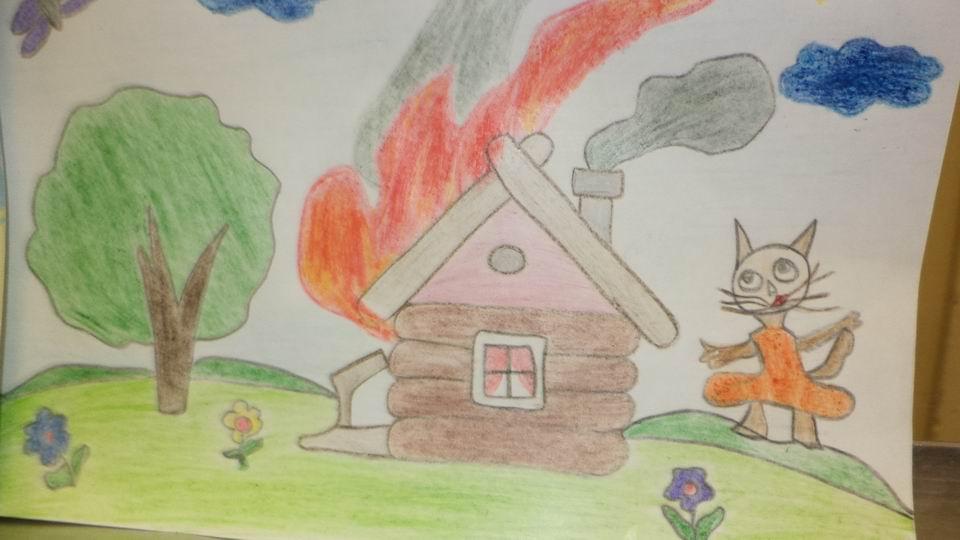 Рисунки по пожарной безопасности для детей своими руками (2)