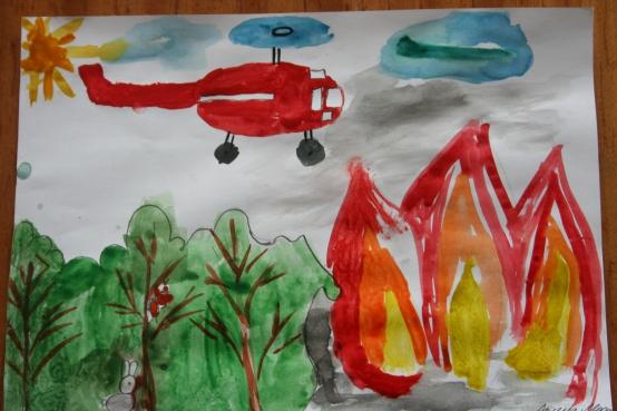 Рисунки по пожарной безопасности для детей своими руками (22)