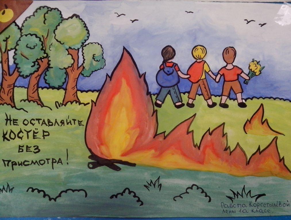 Рисунки по пожарной безопасности для детей своими руками (24)