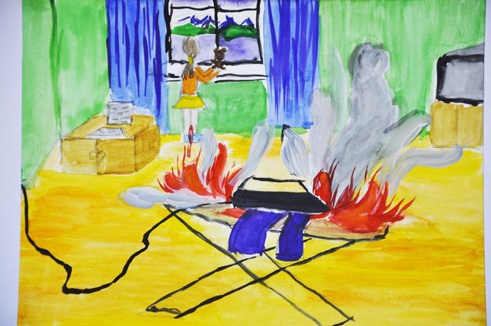 Рисунки по пожарной безопасности для детей своими руками (25)