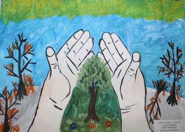Рисунки по пожарной безопасности для детей своими руками (9)