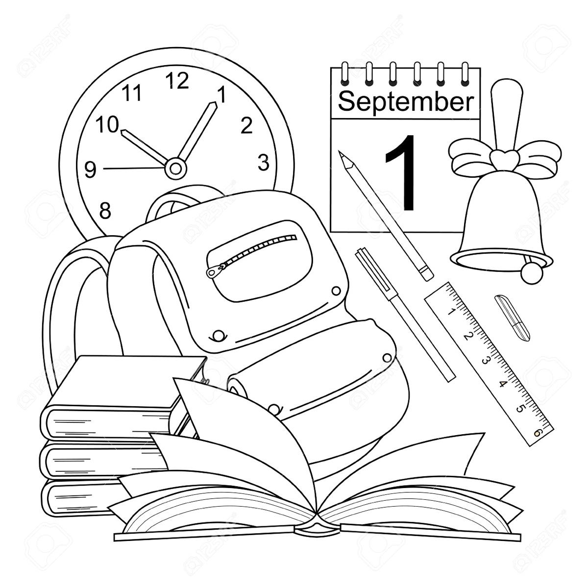 Рисунки про школу и на школьную тематику карандашом001