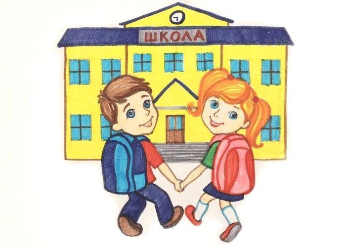 Рисунки про школу и на школьную тематику карандашом024