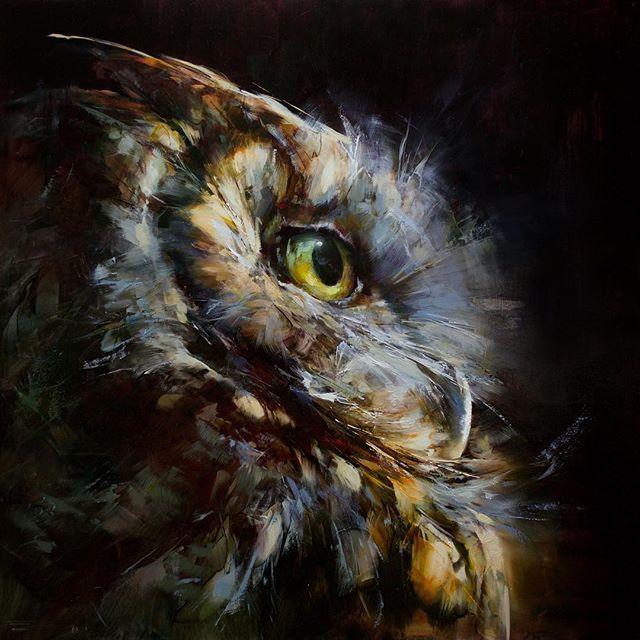 Рисунки совы красками смешные и веселые (16)