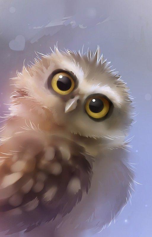Рисунки совы красками смешные и веселые (28)