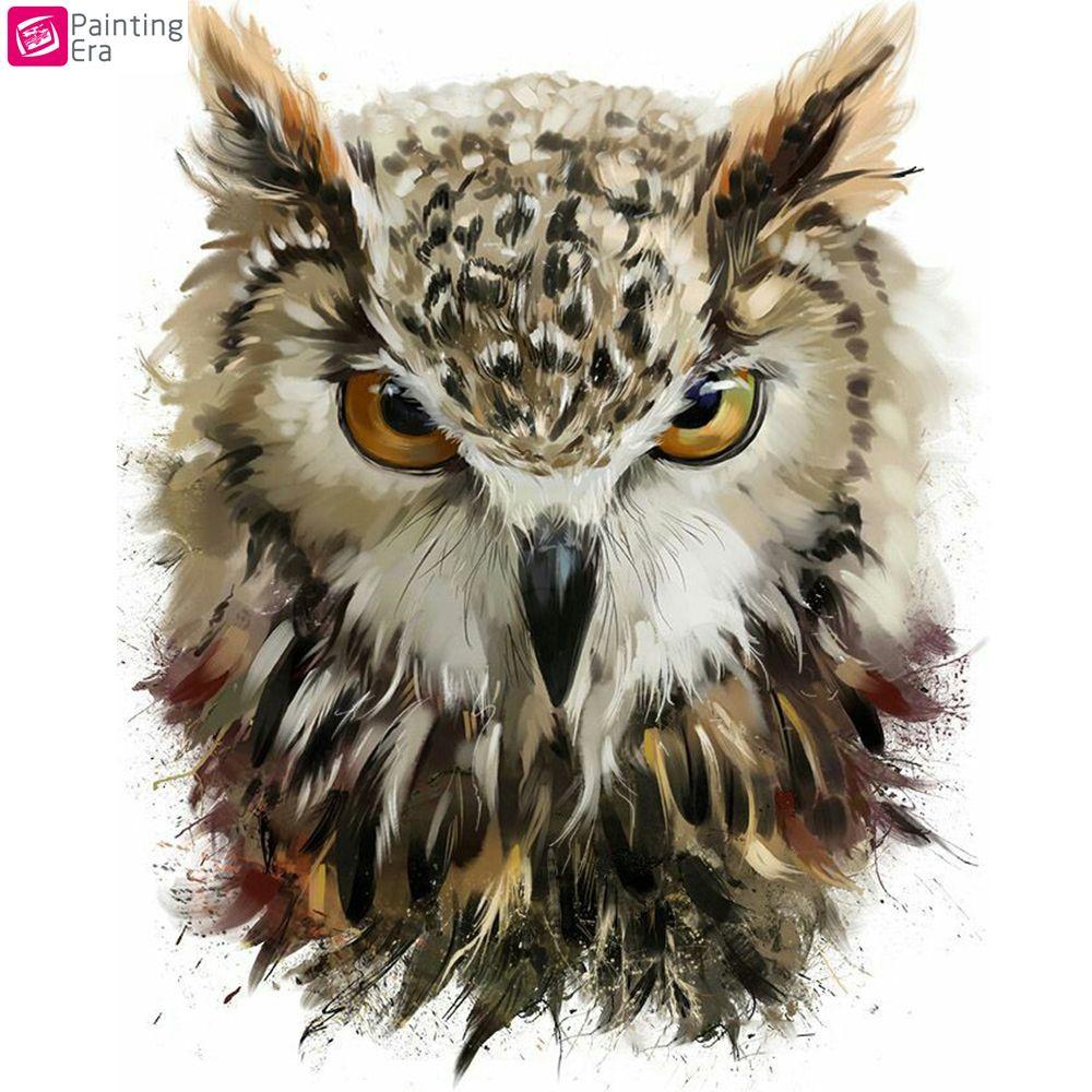 Рисунки совы красками смешные и веселые (8)