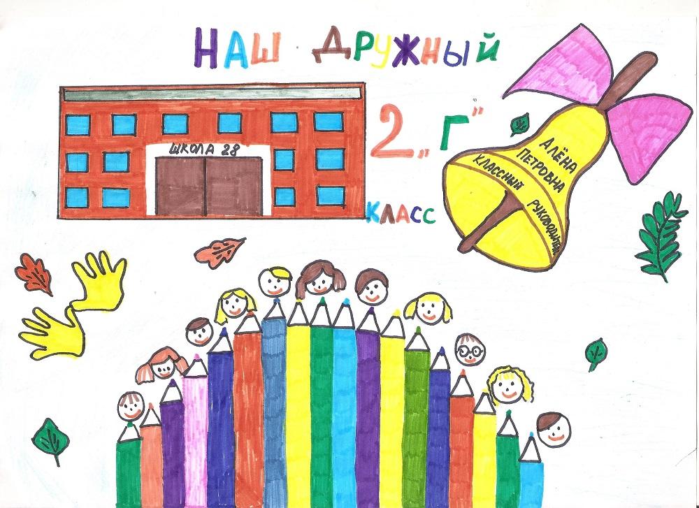 Рисунок на тему мой первый день в школе 1 класс (18)