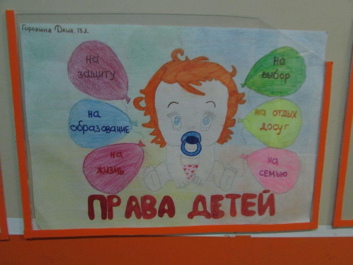 Рисунок на тему права ребенка в рисунках детей011
