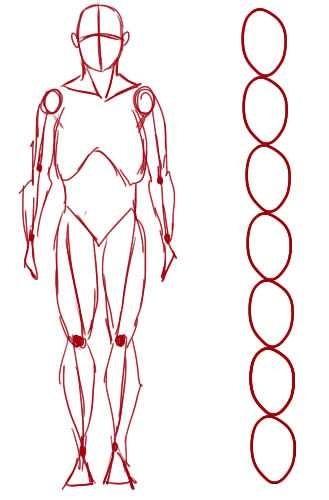 Рисунок по контуру человек в полный рост005
