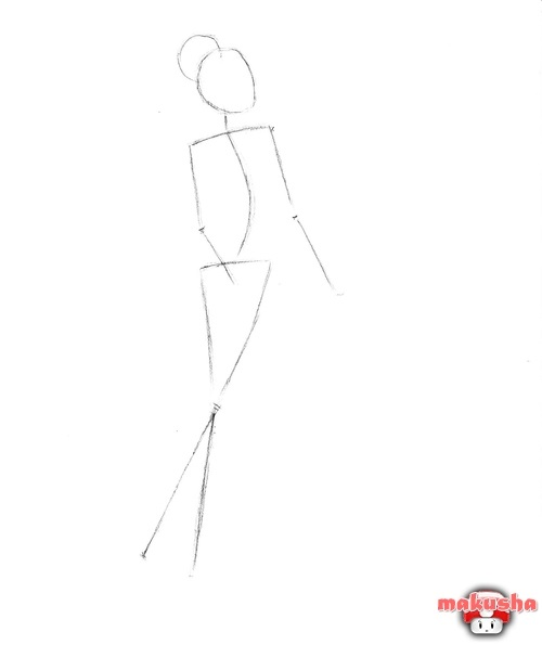 Рисунок по контуру человек в полный рост010