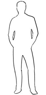 Рисунок по контуру человек в полный рост011