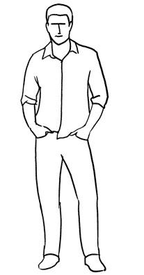 Рисунок по контуру человек в полный рост012