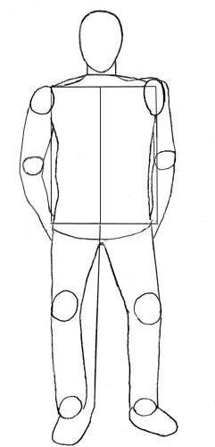 Рисунок по контуру человек в полный рост015