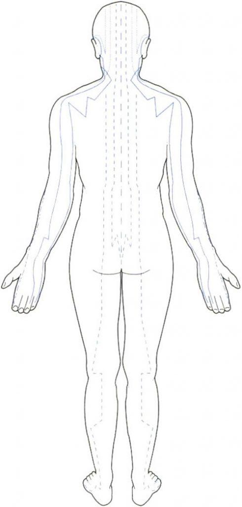 Рисунок по контуру человек в полный рост018