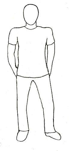 Рисунок по контуру человек в полный рост019