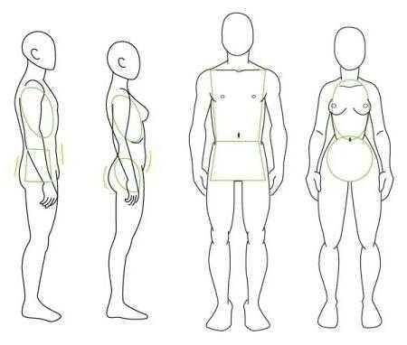 Рисунок по контуру человек в полный рост020