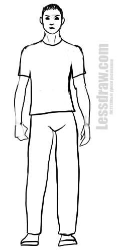 Рисунок по контуру человек в полный рост021