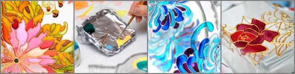 Роспись по стеклу фото и картинки010