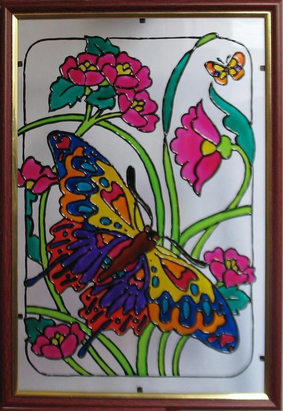 Роспись по стеклу фото и картинки012