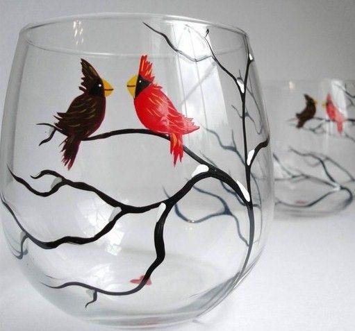 Роспись по стеклу фото и картинки013
