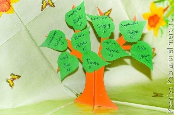 Семейное древо поделка в школу020