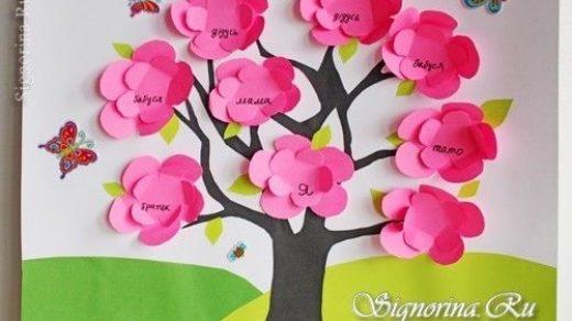 Семейное древо фото в садик002