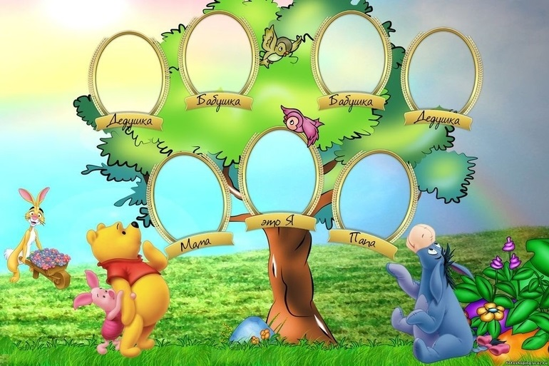 Семейное древо фото в садик012