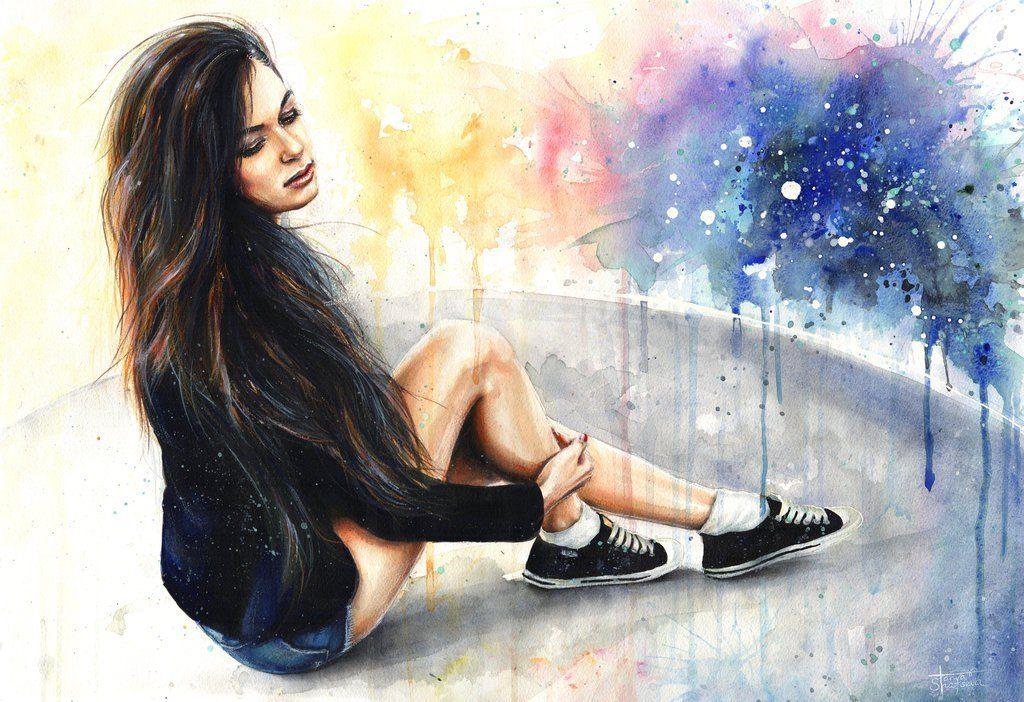 Картинки на аву в вк для девушки нарисованы