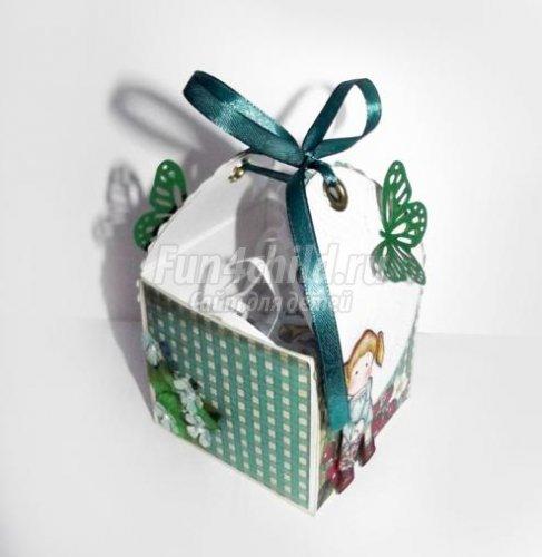 Скрапбукинг коробочка на новый год - фото идеи (11)