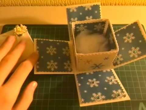 Скрапбукинг коробочка на новый год - фото идеи (13)