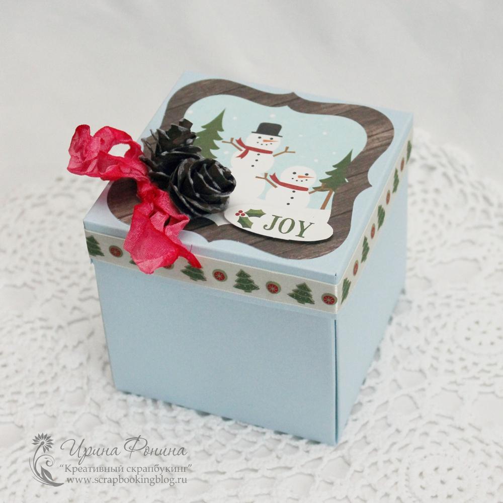 Скрапбукинг коробочка на новый год - фото идеи (14)