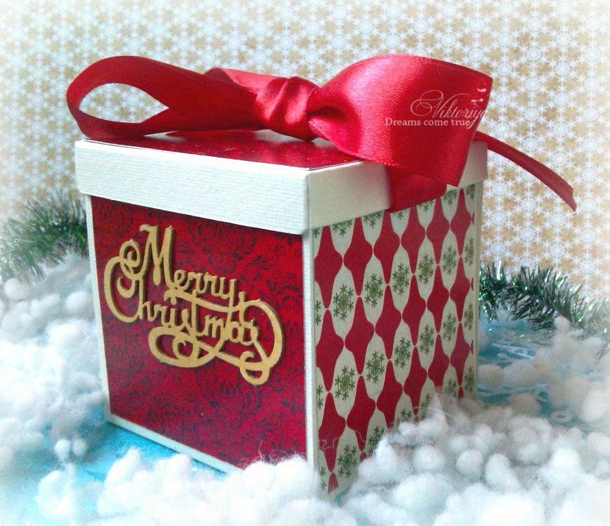 Скрапбукинг коробочка на новый год - фото идеи (15)
