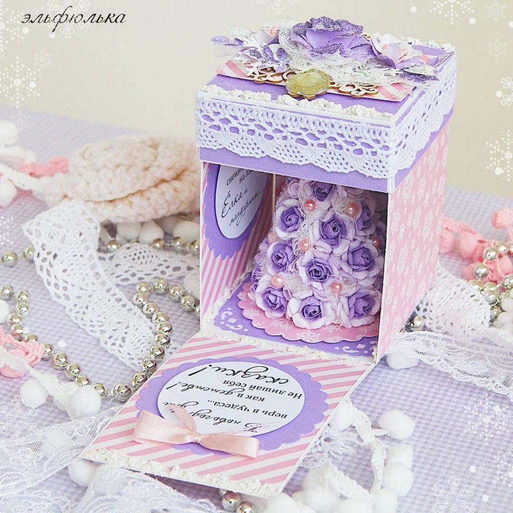 Скрапбукинг коробочка на новый год - фото идеи (16)