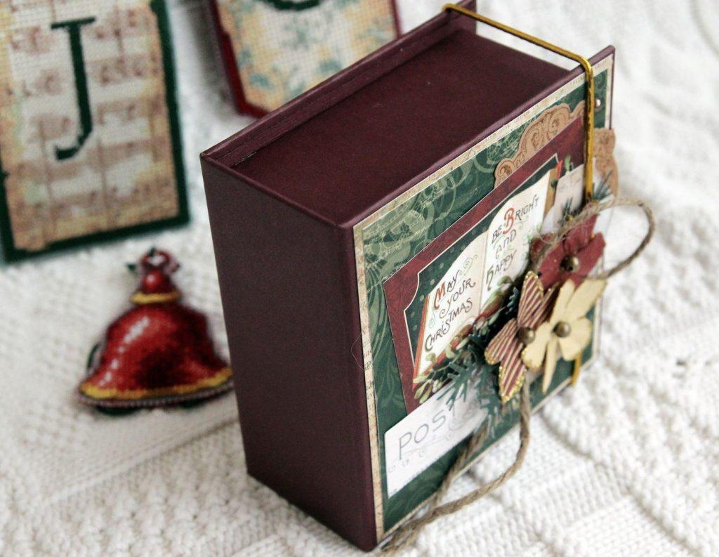 Скрапбукинг коробочка на новый год - фото идеи (18)