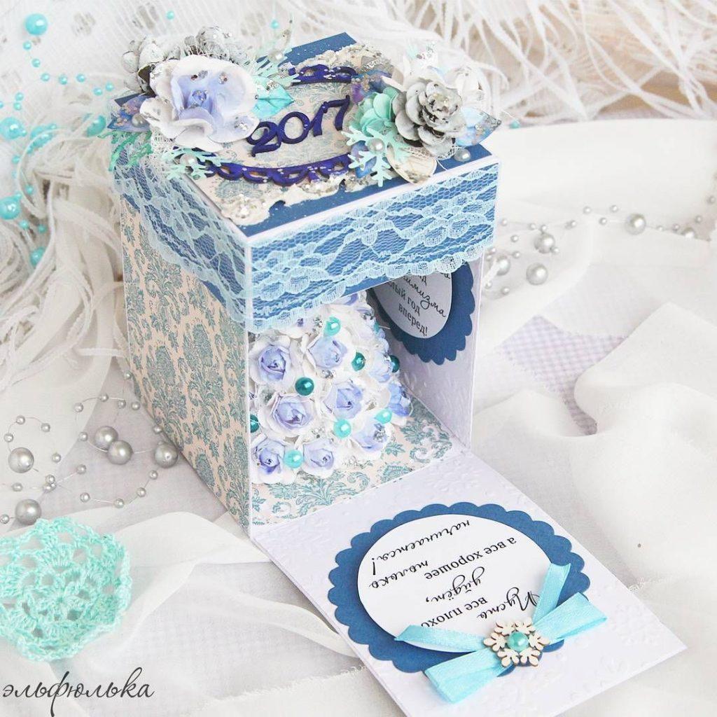Скрапбукинг коробочка на новый год - фото идеи (19)